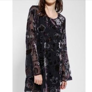 Urban Outfitters floral velvet mini dress